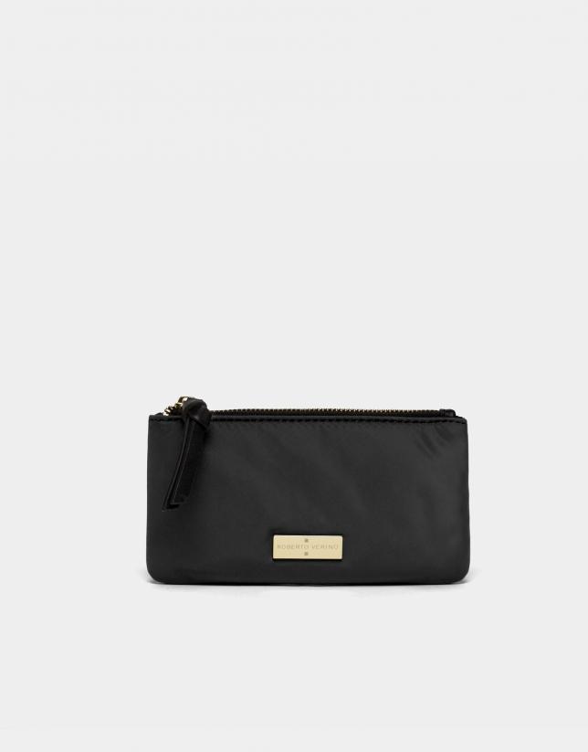 Portefeuille en nylon noir