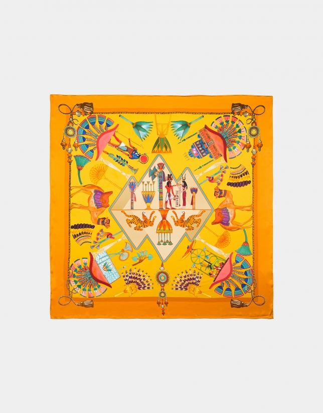 Pañuelo seda estampado egipcio