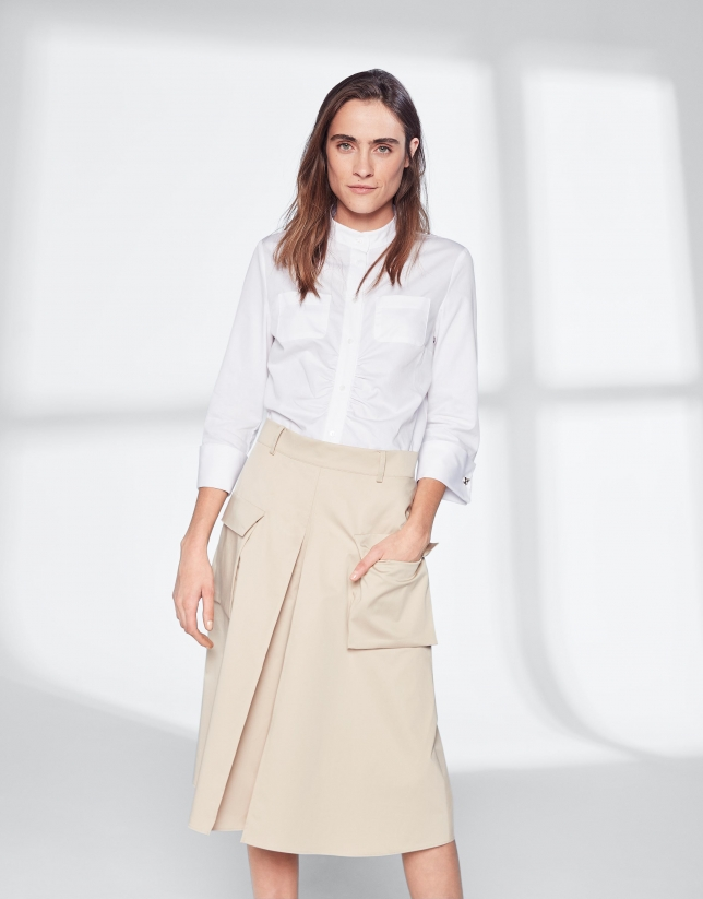 Falda pantalón midi arena