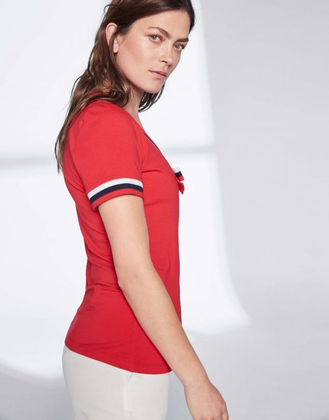 Camiseta marinera lazo roja