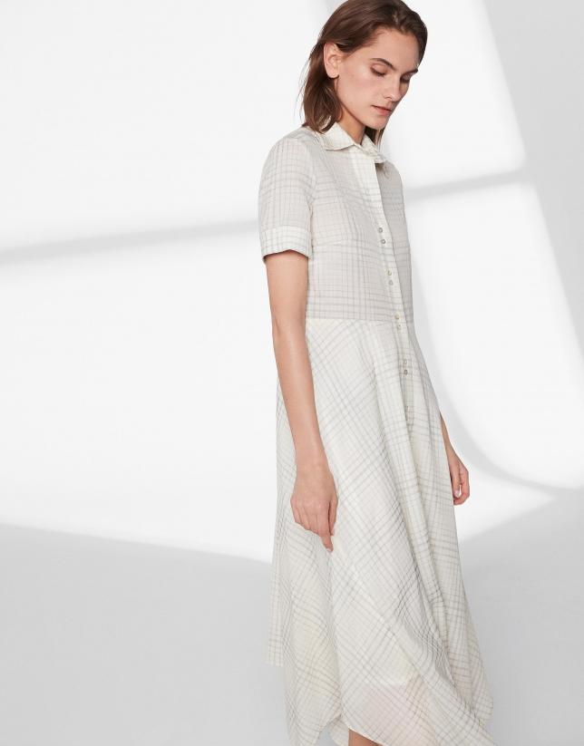 Vestido estampado a cuadros