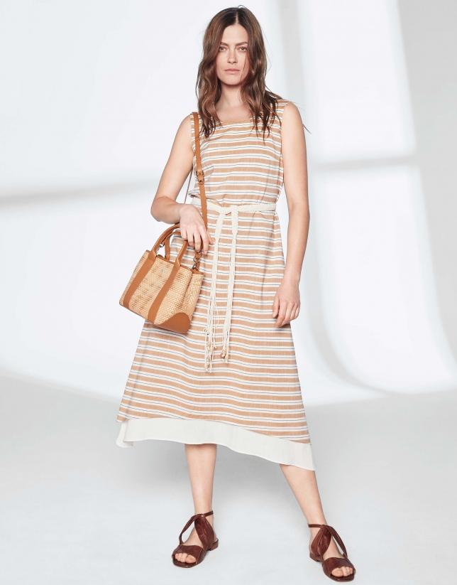 Hazelnut striped dress