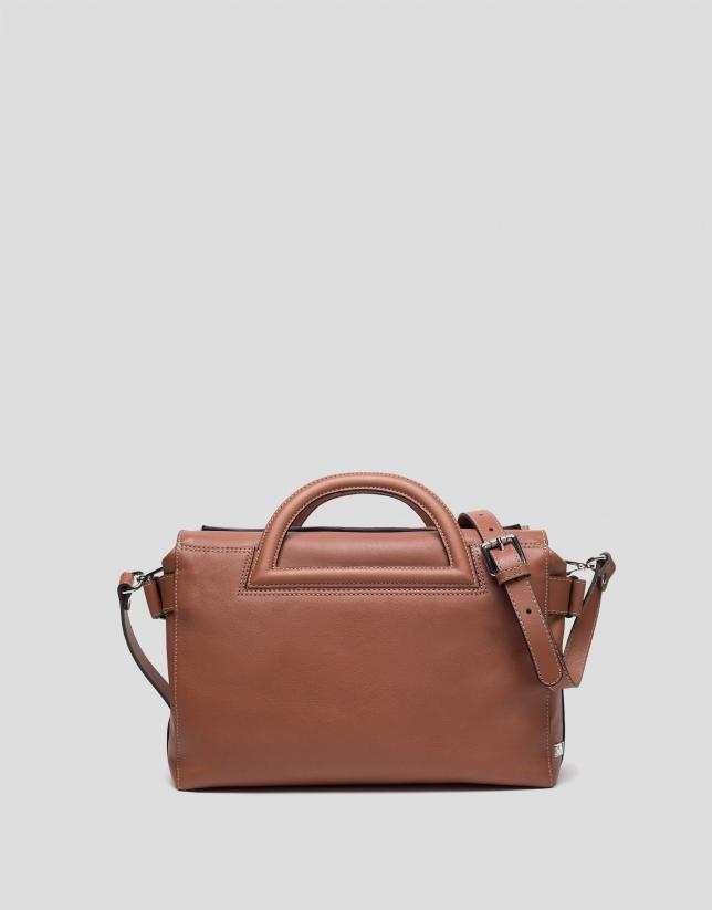 Brown leather Luxor handbag
