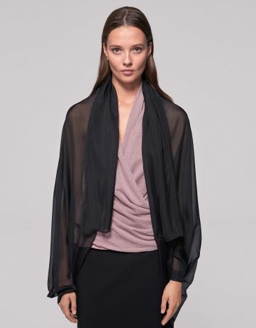 Black silk shawl