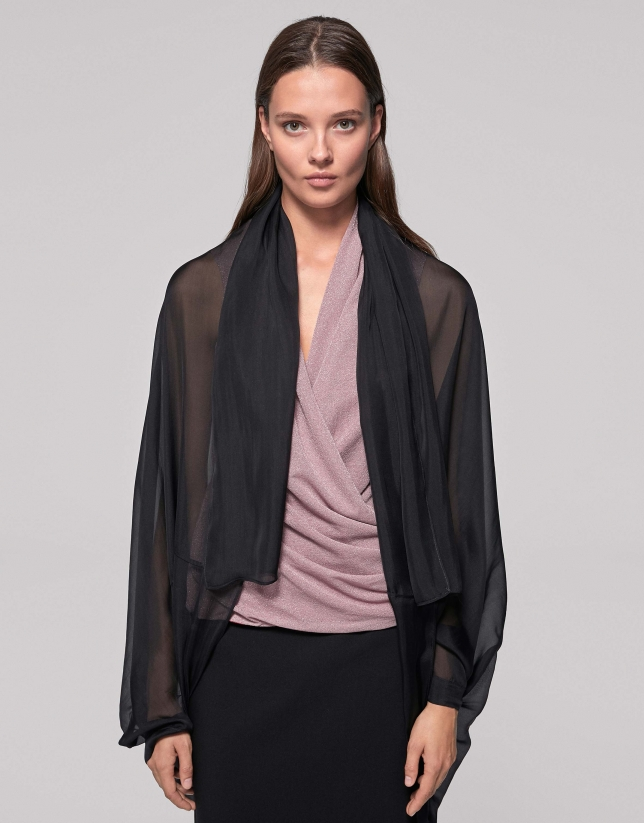 Black silk shawl