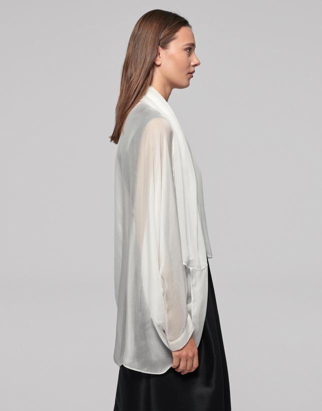 Ivory silk shawl
