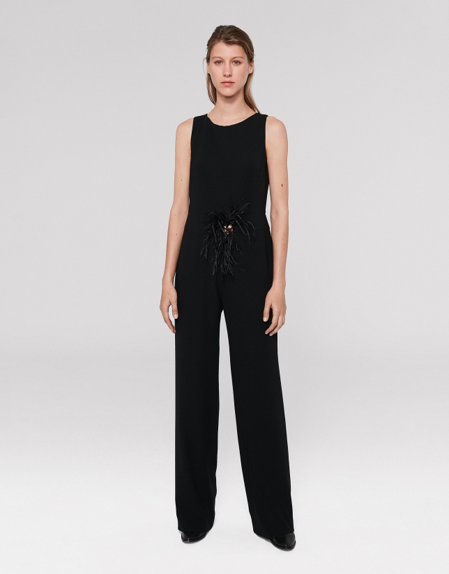 Black jumpsuit  with straight pants