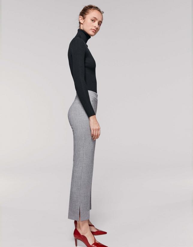 Pantalón tobillero gris marengo