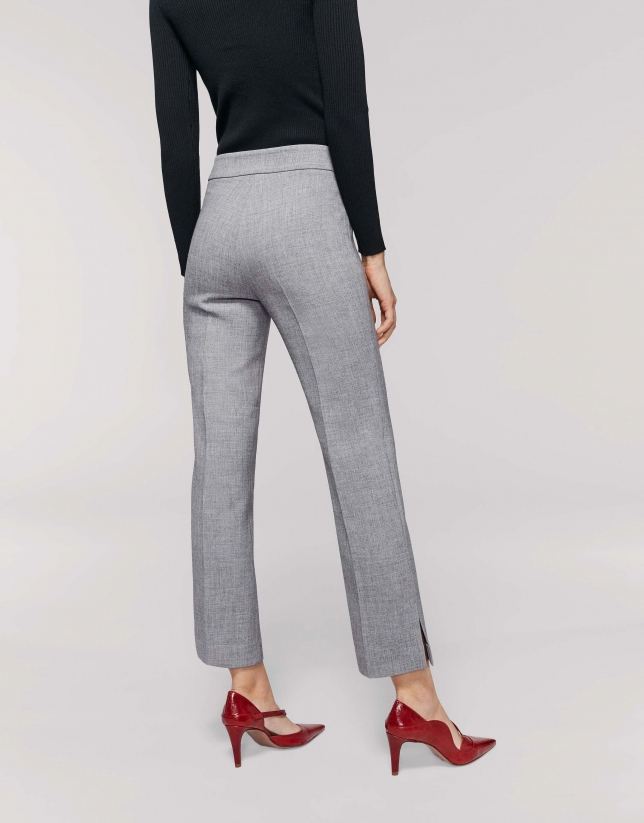Grey ankle-length pants