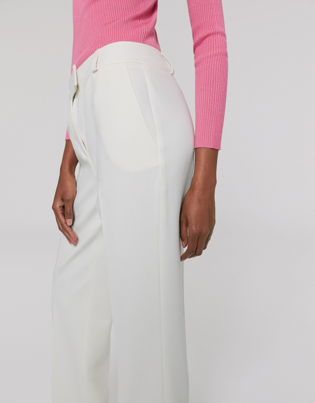 Ivory straight pants