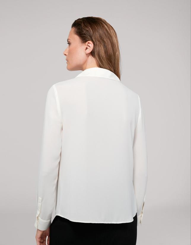 Ivory shirt with ruffles