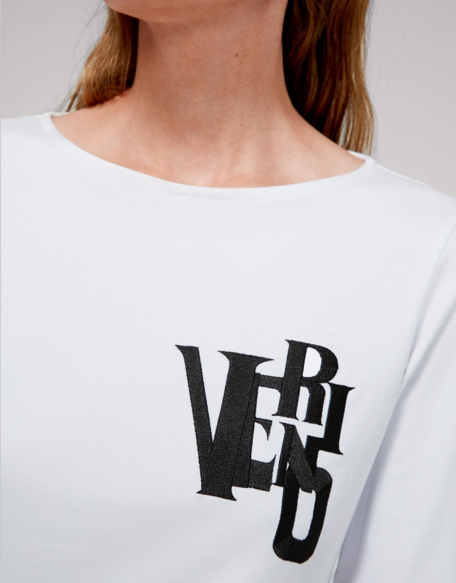 White top with black embroidered VERINO logo