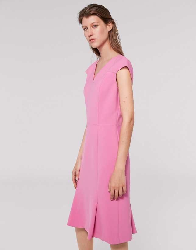 Midi petunia dress with short sleeves