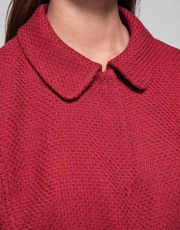 Veste cintrée rouge avec ceinture