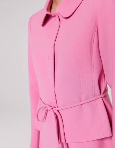 Fitted petunia jacket with belt