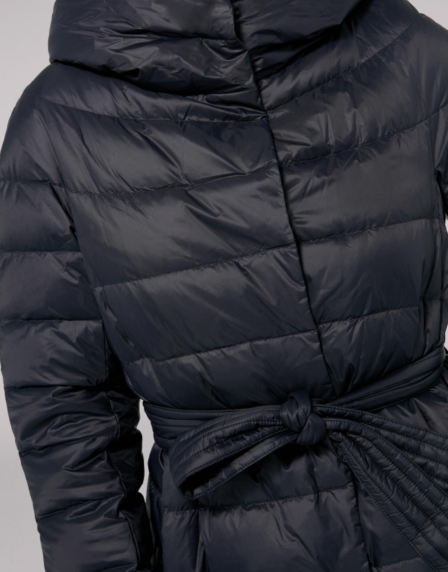 Gray marengo quilted parka