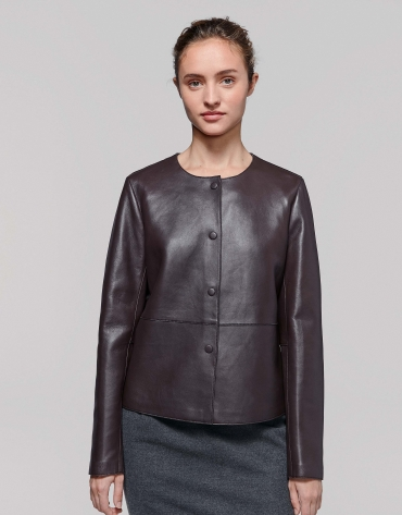 Brown lambskin jacket