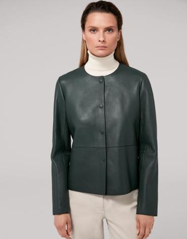 Mint green lambskin jacket