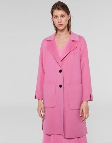 Long petunia wool coat