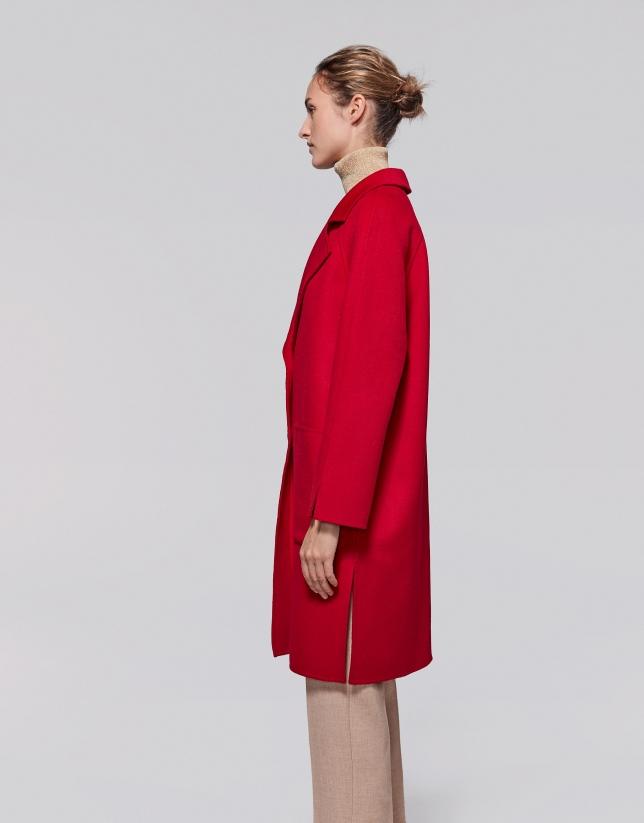 Abrigo lana amapola