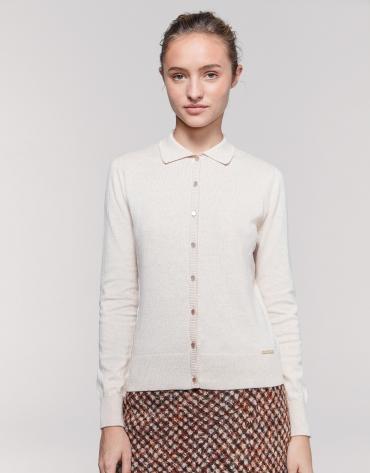 Vanilla cotton/cashmere jacket
