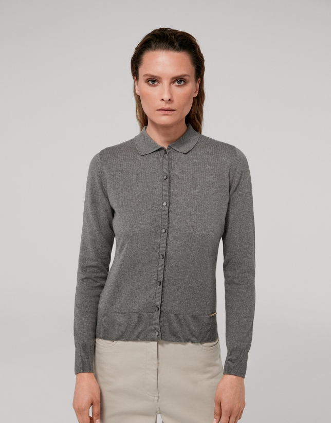 Gray marengo cotton/cashmere jacket