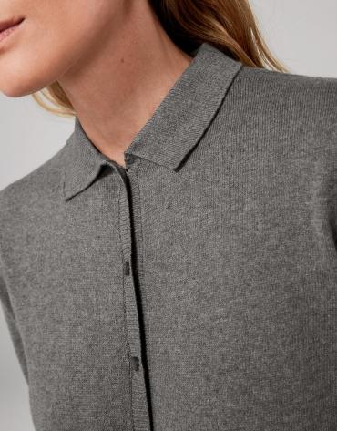 Gray marengo cotton/cashmere jacket