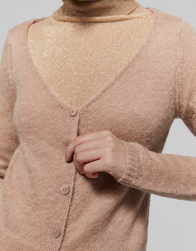 Hazel wool/mohair cardigan with V-neck