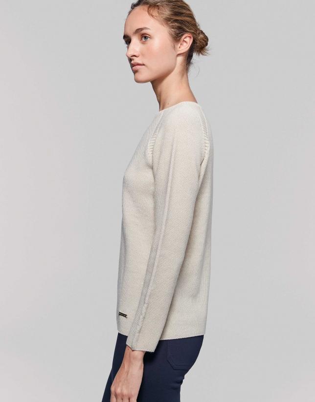 Ivory merino wool