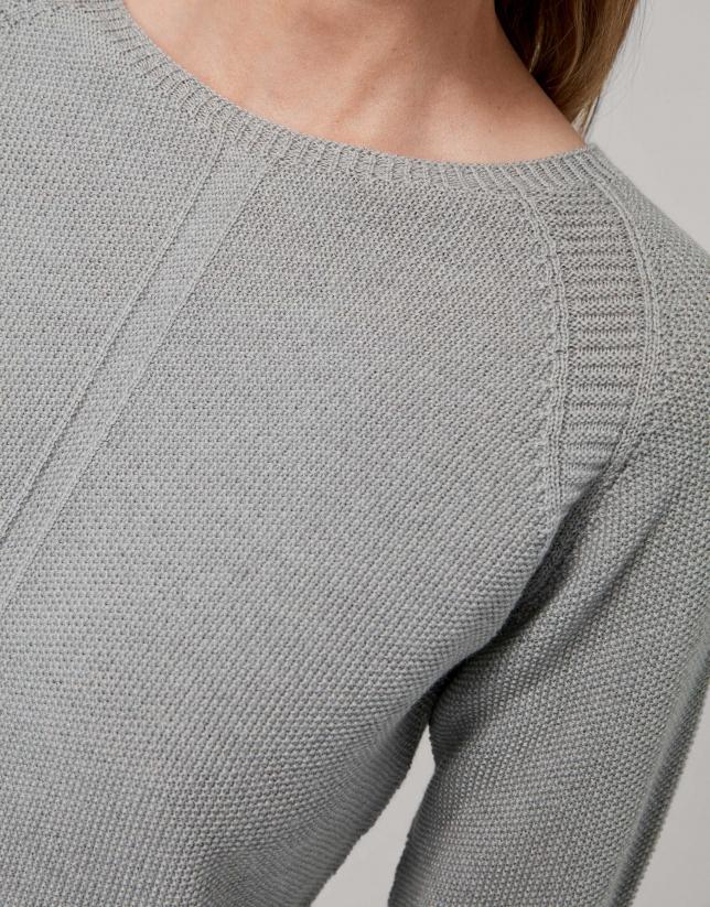 Smokey gray merino wool