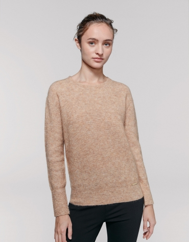 Hazel oversize sweater with round neck