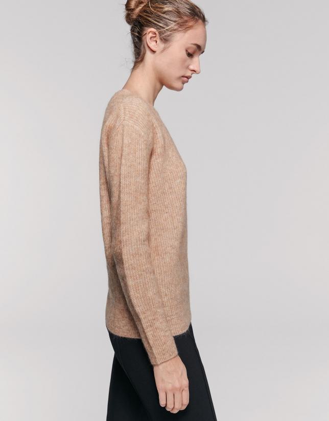 Hazel oversize sweater with round neck