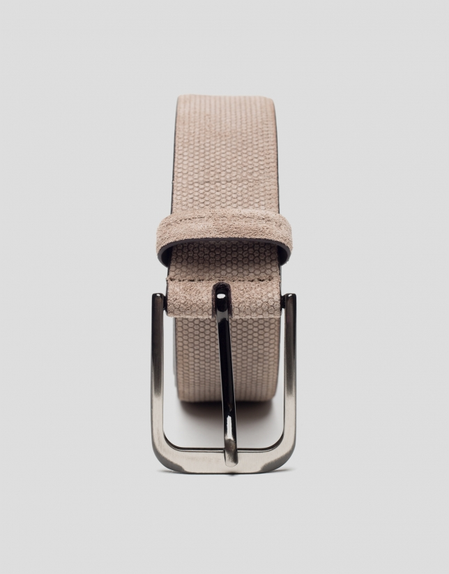 Mink-colored embossed belt