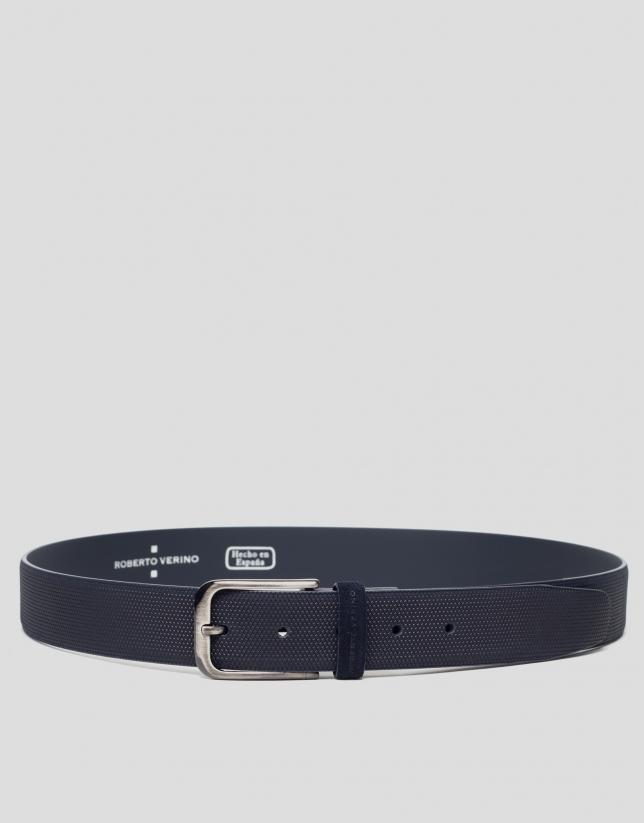 Cinturón grabado azul