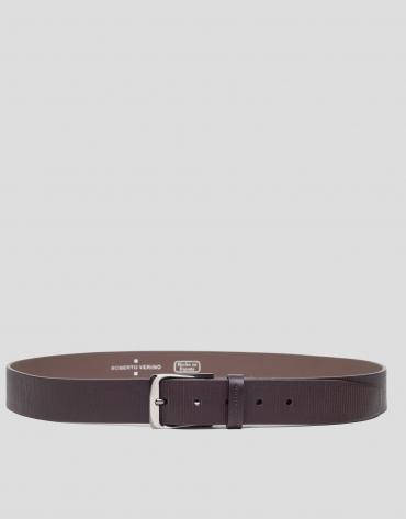 Brown striped belt