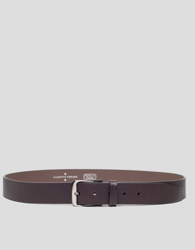 Brown striped belt