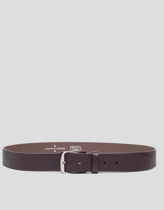 Cinturón marrón rayas