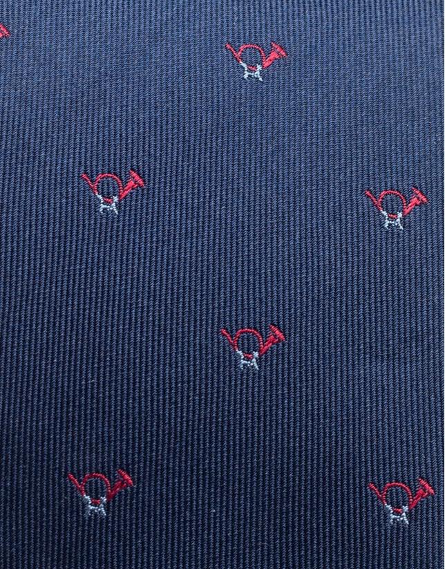 Cravate en soie à jacquard de clairons