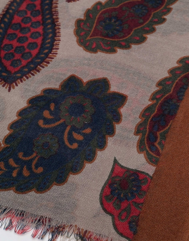 charpe en laine à cachemire multicolore