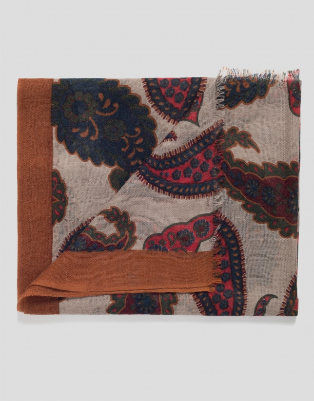 Fular lana cachemires multicolor