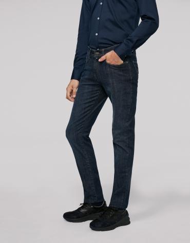 Pantalon en denim bleu moyen