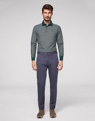 Medium blue cotton chino pants