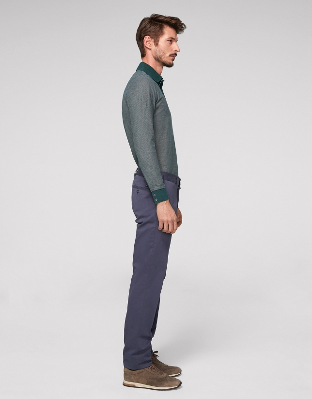 Medium blue cotton chino pants