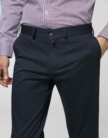 Navy blue cotton chino pants
