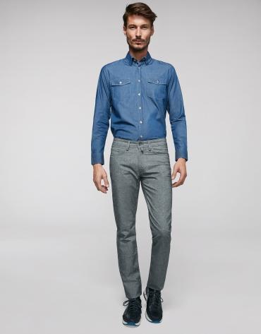 Pantalon cinq poches gris