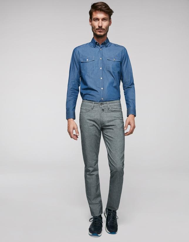 Pantalón cinco bolsillos gris