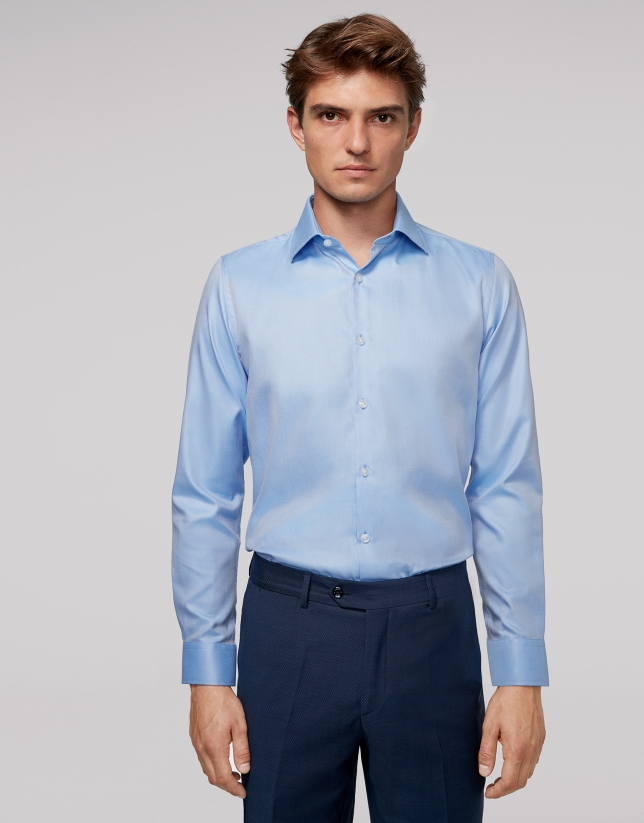 Light blue thin-striped dress shirt