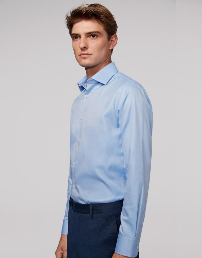 Light blue thin-striped dress shirt