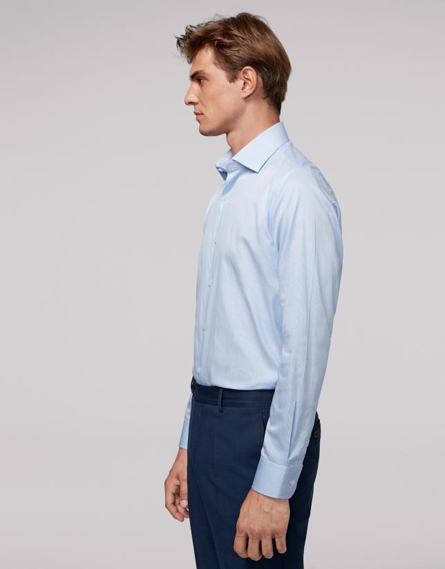 Camisa vestir rayas celeste y blanco Hombre | Roberto Verino