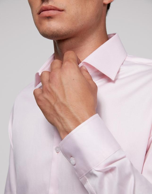 Camisa vestir rombos rosa